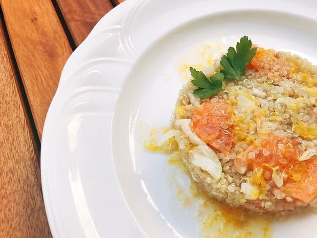 Receta de Ensalada de quinoa, hinojo y pomelo rosado