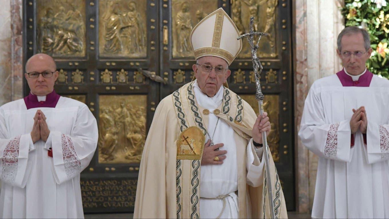 El papa Francisco cerró hoy con una misa el Jubileo foto: AFP