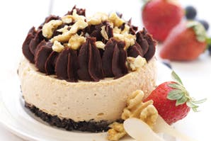 Cheesecakes de chocolate y dulce de leche