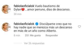 """Fabiola Yáñez respondió a críticas en Instagram: """"No hay nadie que se merezca más un descanso que Alberto"""""""