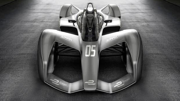 Así es el frente del auto con diseño futurista de Spark que se utilizará en la Fórmula E