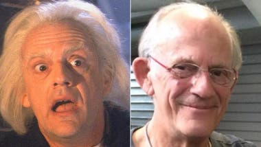 Christopher Lloyd, como el doctor Emmett Brown
