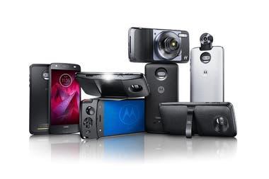 Algunos de los Moto Mods disponibles para la familia Moto Z de Motorola