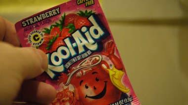 Kool Aid, fruta en polvito.