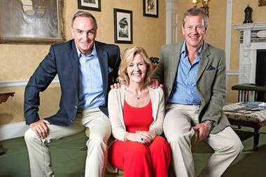 James Coyle, Penny y el lord Ivar Mountbatten. Foto: Daily Mail.