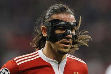 Enmascarado, tras una lesión en el Bayern Munich en 2010