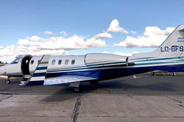 Aeronave matrícula LQ-BFS de la Gobernación Santiago del Estero