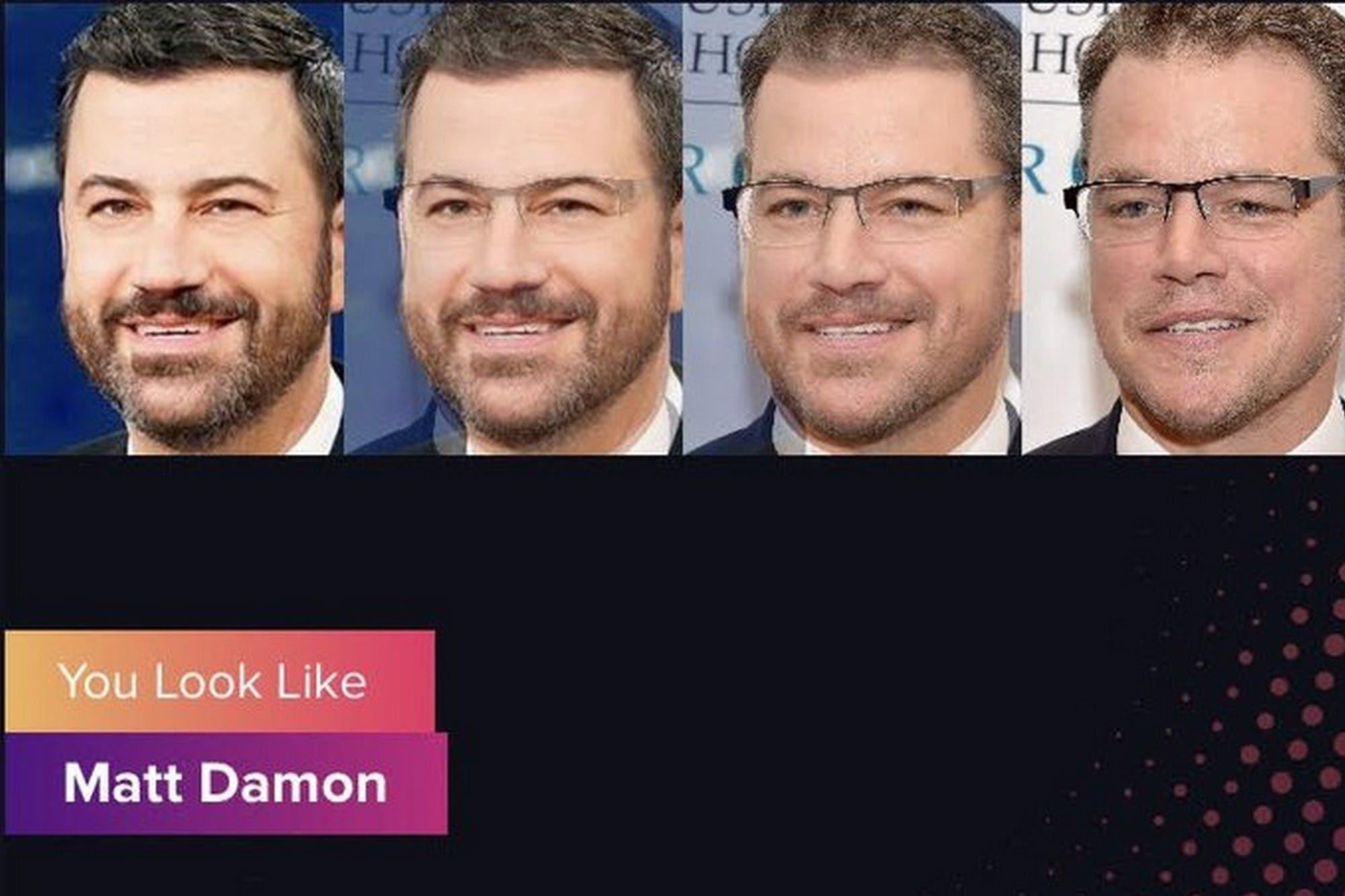 Así es Gradient, la app que te dice a qué famoso se parece tu rostro