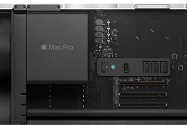 El armazn de la Mac Pro es desmontable para que el usuario pueda instalar y desinstalar hardware cuando lo desee