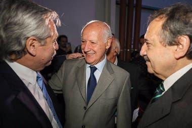 Fernández y Lavagna, junto a Ricardo Alfonsín