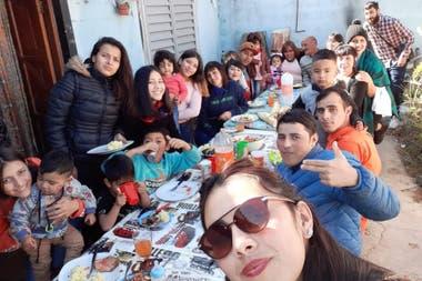 Los Herrera hicieron un asado para festejar el día del Padre