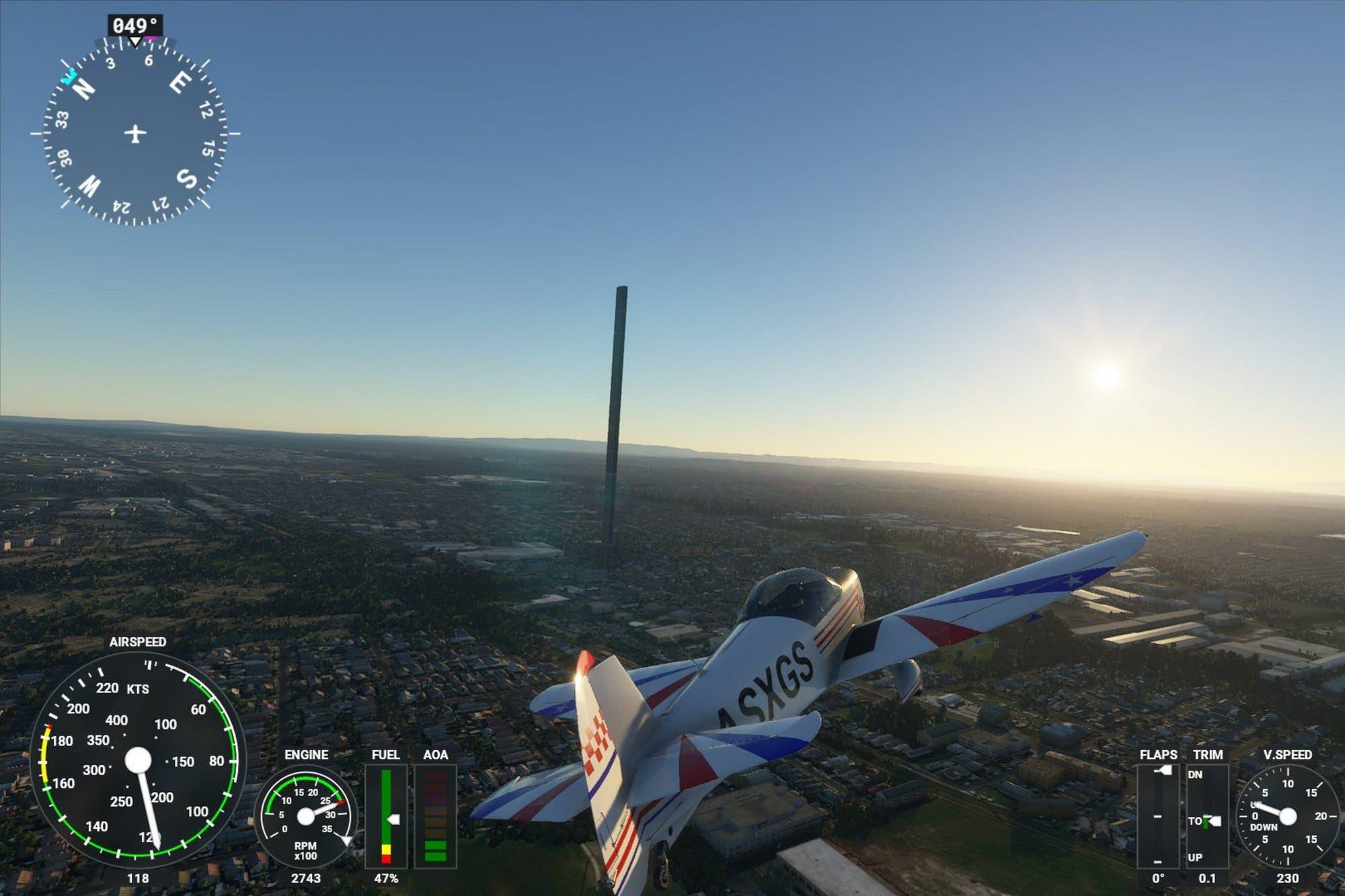 Por un error de tipeo, un rascacielos de 212 pisos apareció en el juego Flight Simulator de Microsoft