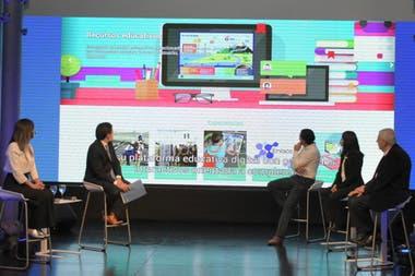 La presentación de la plataforma educativa