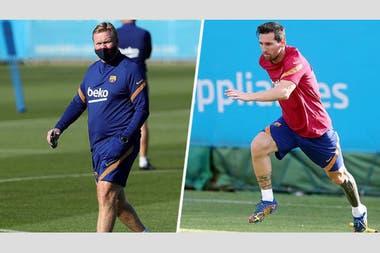"""Koeman elogió a Messi: """"Leo es el mejor y ojalá pueda repetirlo esta temporada"""""""