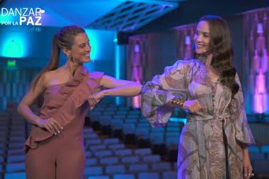 Codo con codo, María Ricetto y Natalia Oreiro estarán al frente de la transmisión televisiva de Danzar por la paz en Uruguay, que el mundo podrá seguir por streaming, a beneficio de Unicef