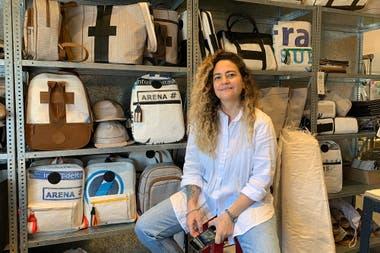 """Ornella Basilotto fue quien viajó a Neuquén y """"descubrió"""" el material."""