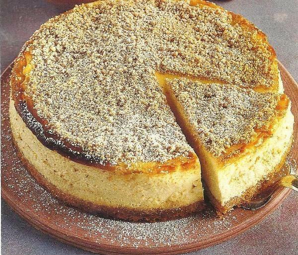 Receta de Pastel de ricota con almendras al caramelo