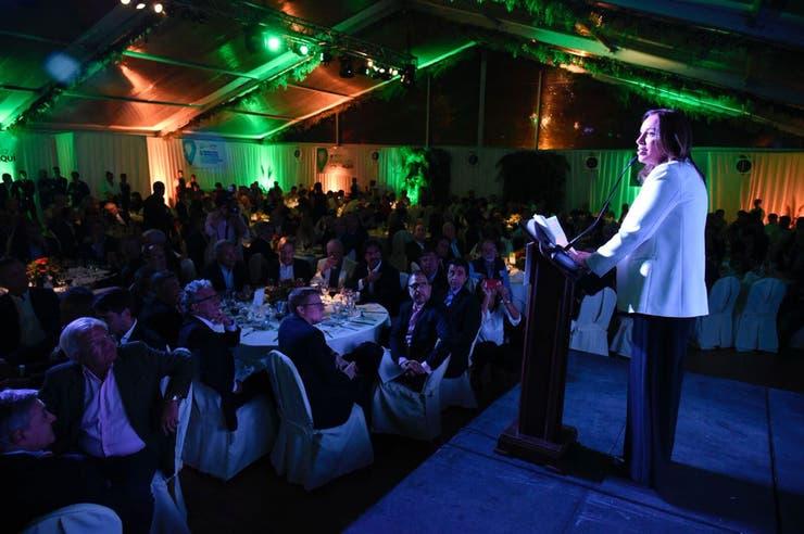 Vidal, en la cena de Expoagro 2018