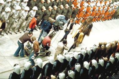 El final de la película, y el final de un rodaje de pesadilla para George Lucas.