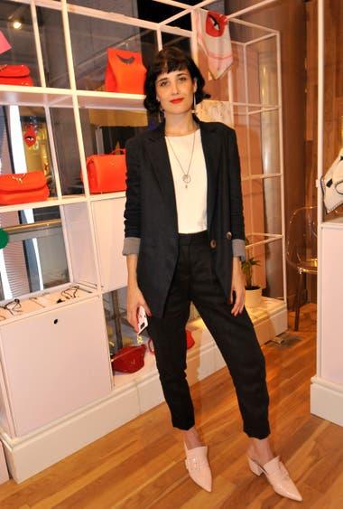 Florencia Torrente puso su ojo de diseñadora en el evento