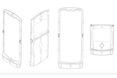 Así podría ser el nuevo RAZR de Motorola: un teléfono con tapita, pero que en su interior es una única pantalla de tamaño convencional