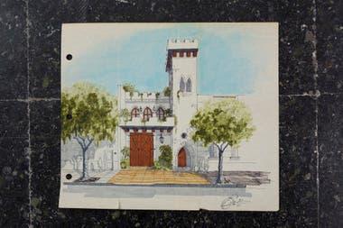 Nunca antes mostrados. Aún se conservan los dibujos originales con la firma de Roberto Sánchez que fueron el primer paso para la concreción del exótico proyecto.