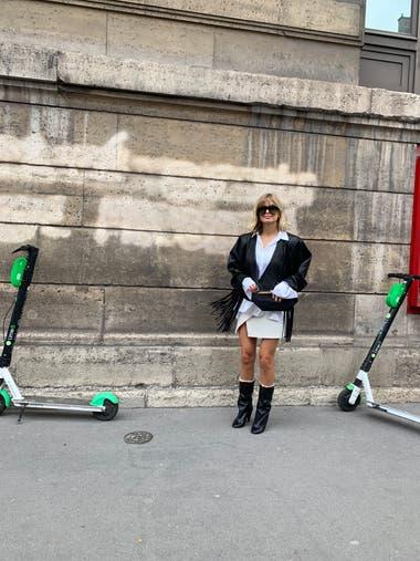 Street Style en París durante la semana de la moda