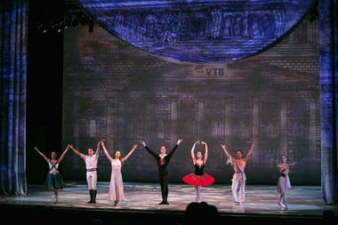 Bailarines del Bolshoi en el Kennedy Center de Washington, con el auspicio del banco ruso VTB