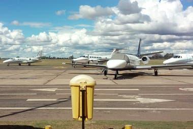 Los aviones que usaron los invitados al Día de la Lealtad en La Pampa