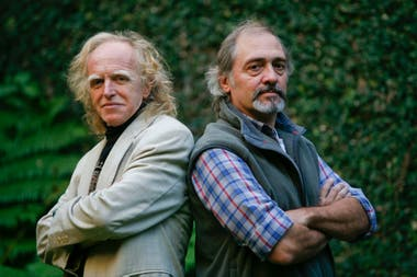 Miguel Cantilo y Jorge Durietz en 2009, cuando celebraron los 40 años de trayectoria