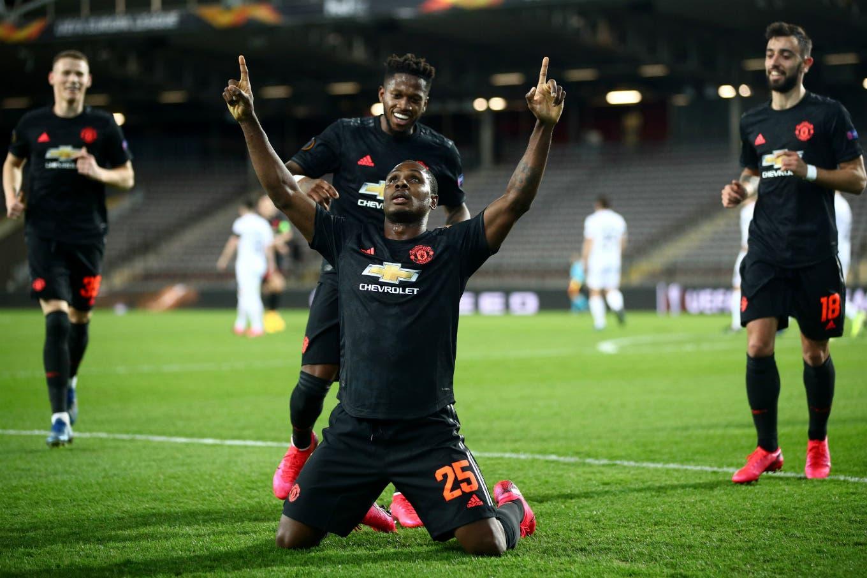 Europa League. El golazo de Ighalo en el triunfo por 5-0 de Manchester United
