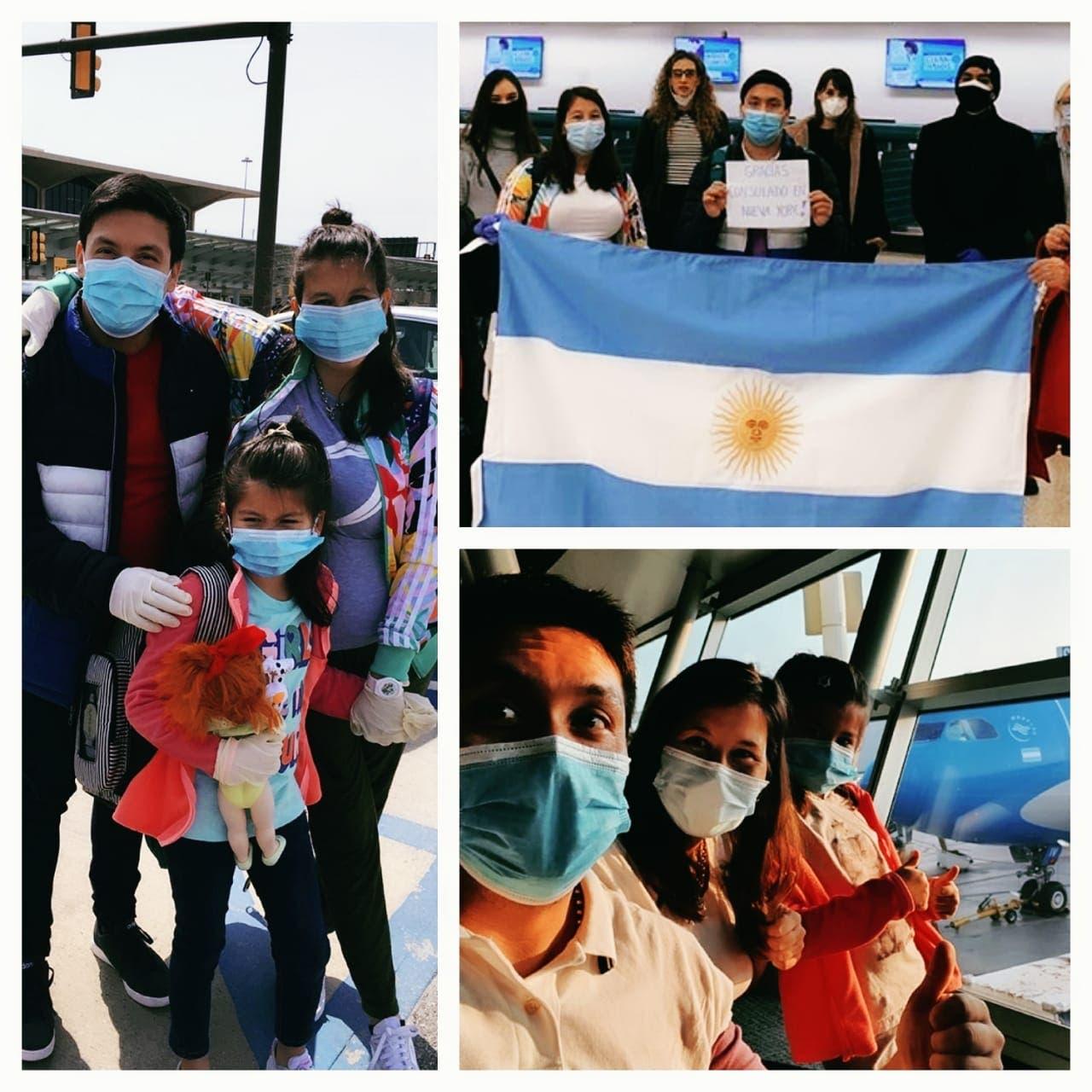 Coronavirus en la Argentina: volvieron 243 varados en el primer vuelo desde EE.UU. desde fines de marzo