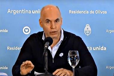 Horacio Rodríguez Larreta dará detalles sobre cómo sigue la cuarentena en la Ciudad en una conferencia mañana por la mañana