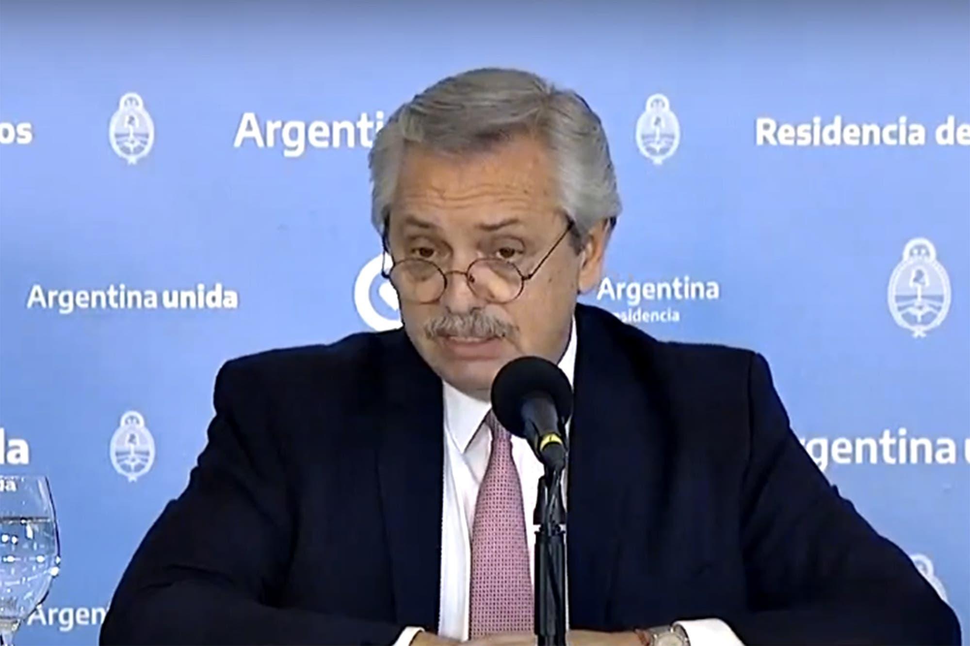 Alberto Fernández anuncia la extensión de la cuarentena en la Argentina