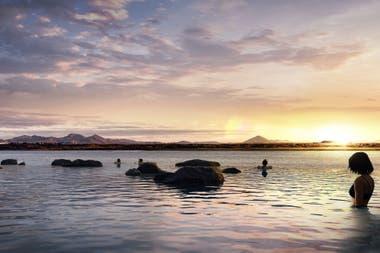 La laguna termal tendrá una vista infinita al mar
