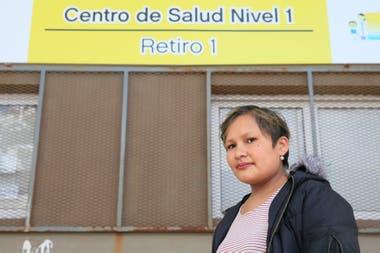 Natalia Pino sigue con ejercicios para recuperar la movilidad de su brazo derecho