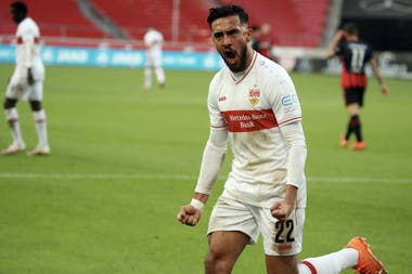 Catorce goles en 27 partidos, la estadística en la campaña de regreso de Stuttgart a la Bundesliga; los 8.500.000 euros que desembolsaron los alemanes, la cifra más alta que recibió Argentinos por una venta