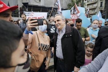 El exsecretario de Comercio Guillermo Moreno participó de la marcha provida
