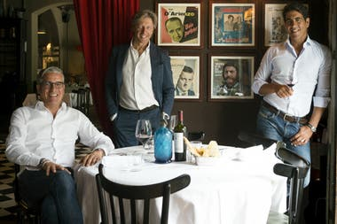 Los hermanos Alejandro y Sebastián Bernández junto a su socio italiano Fabio Acampora