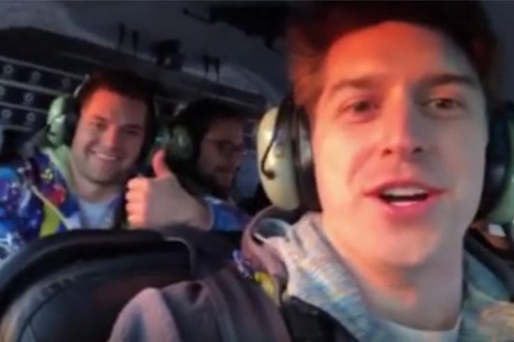 Las últimas imágenes a bordo fueron publicadas en un video en Instagram por Trevor Cadigan, fotógrafo y pasajero