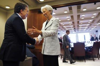El ministro de Hacienda, Nicolás Dujovne, se reunió el jueves con Christine Lagarde, directora del FMI