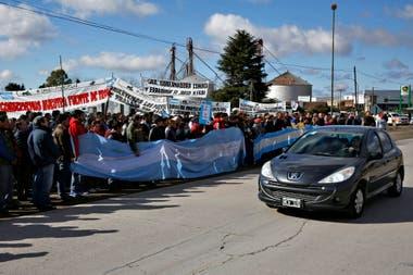 La protesta reunión a decenas de personas