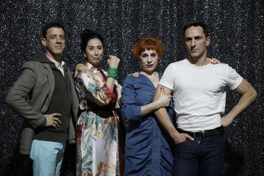 Arias y su vieja/nueva familia de artistas: Montes, Merlino, Radano y Casella