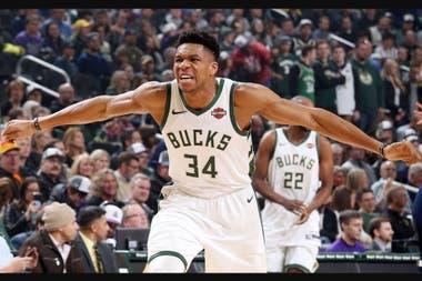 Giannis Antetokounmpo el jugador franquicia de Milwaukee Bucks quiere arrebatarle el trono a Golden State