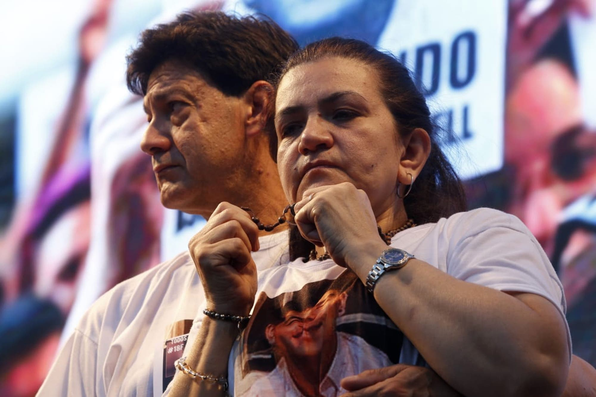 """Resultado de imagen para """"Él está entre nosotros"""", el discurso de la madre de Fernando Báez Sosa al final de la marcha"""