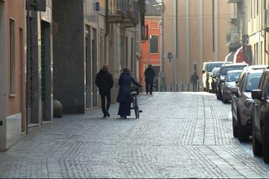 Las calles de Codogno, luego del alerta de las autoridades sanitarias