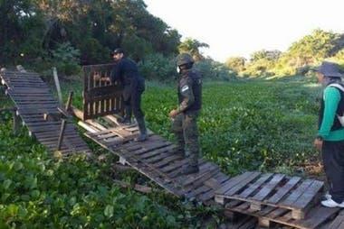 Policías y gendarmes destruyen los pasos clandestinos sobre un Pilcomayo casi seco; hay detenidos y expulsados por cinco años: Gildo Insfrán quiere mantener a su provincia libre de Covid-19
