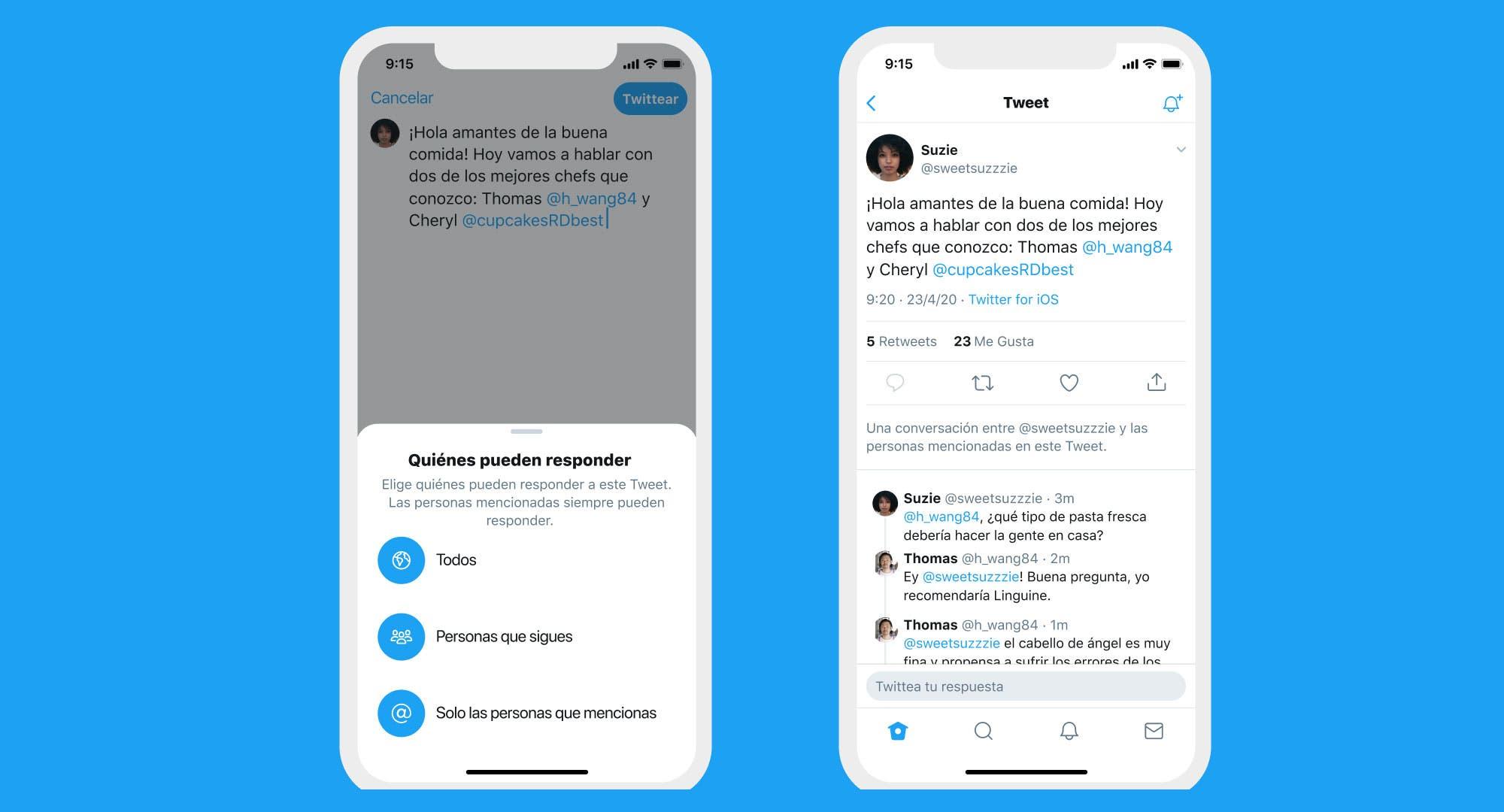 Conversación limitada: Twitter ahora permite elegir quién puede responder un tuit
