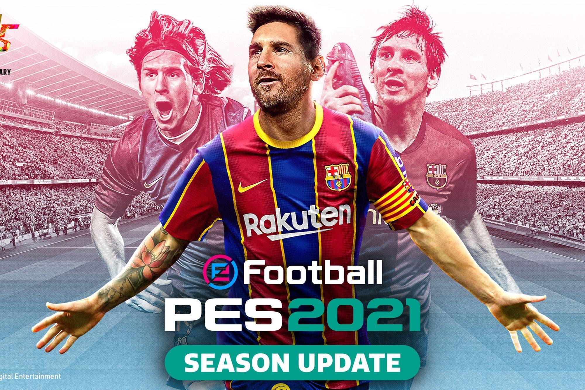 PES 2021 no será un juego completo, sino una actualización de temporada, y será más barato