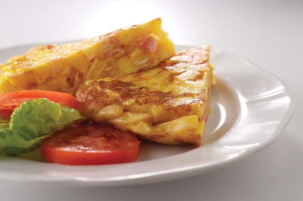 Receta de Tortilla de papa y jamón